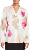 Calvin Klein Floral Crepe Blouse