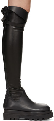 System Black Tall Boots