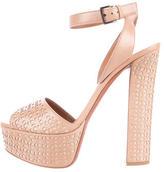Alaia Laser Cut Platform Sandals