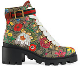 Gucci Women's GG Floral Ankle Boots