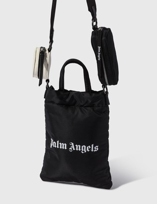 Palm Angels Logo Print Tote Bag With Pouches