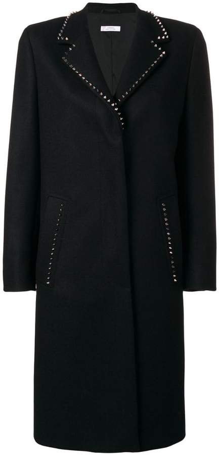 Versace studded single breasted coat
