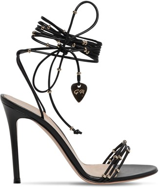 Gianvito Rossi 105mm Embellished Leather Sandals