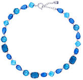 Lauren Ralph Lauren Mad About Hue Silvertone Brass Collar Necklace