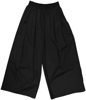 Tome Black Cotton Trousers