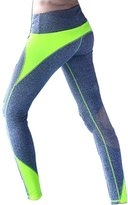 Uskincare Women's Sports Pants Athletic Leggings Stitching Design Running Yoga