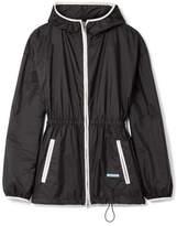 Prada Hooded Gathered Shell Jacket - Black