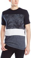 Southpole Men's Marled Cut and Sewn Tee with All Over Plantation Patterns