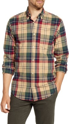 NN07 Levon 5913 Slim Fit Check Button-Down Flannel Shirt