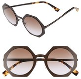 Fendi Women's 51Mm Retro Octagon Sunglasses - Brown