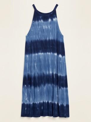 Old Navy High-Neck Dip-Dye Jersey-Knit Sleeveless Swing Dress