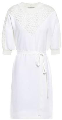 Stella McCartney Lace-paneled Stretch-crepe Mini Dress