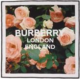 Burberry Multicolor Silk Roses Scarf