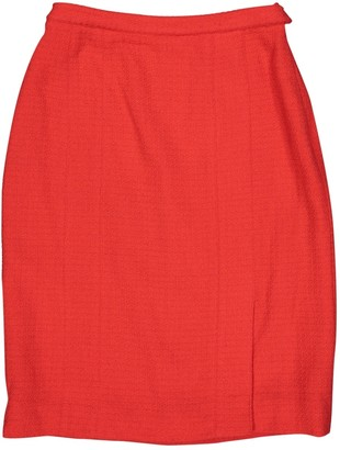 Chanel Red Wool Skirts