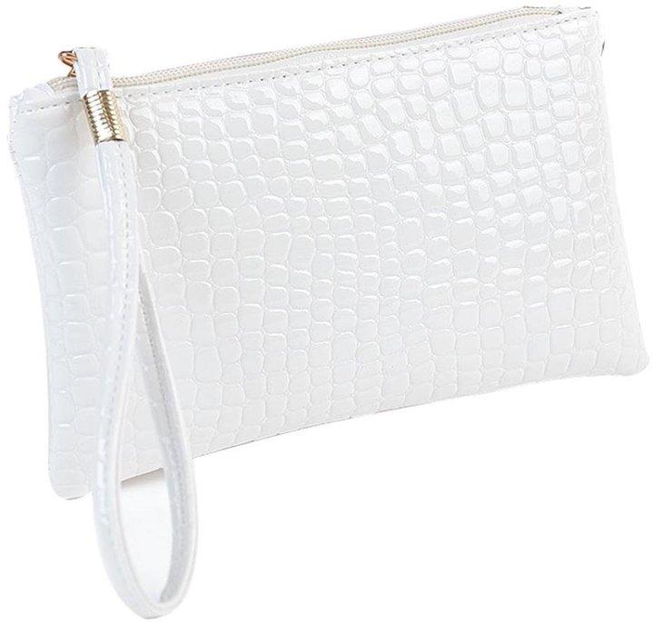 FranterdWomen Crocodile PU Leather Clutch Handbag