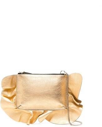 Red(V) Ruffle Trim Shoulder Bag