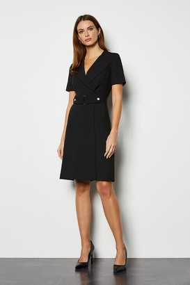 Karen Millen Cinch Waist A Line Dress