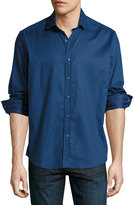 Robert Graham Baylor Long-Sleeve Sport Shirt, Navy