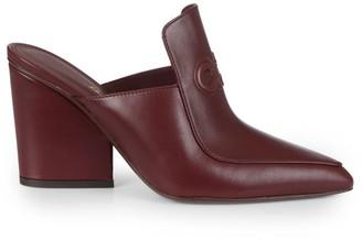 Salvatore Ferragamo Malfa Leather Loafer Mules
