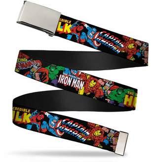 """Buckle Down Buckle-Down Men's Buckle-Down Web Belt Avengers 1.25"""""""