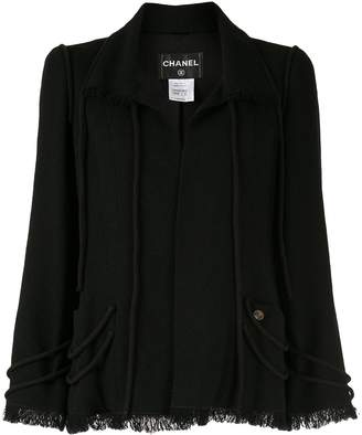 Chanel Pre-Owned rounded piping frayed jacket