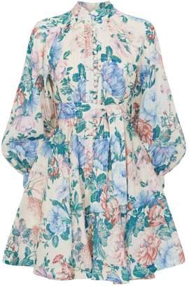 Zimmermann Verity Rouleau Floral Dress