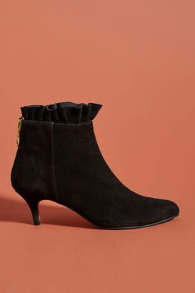 Emma.Go Emma Go Ruffle Kitten-Heeled Ankle Boots