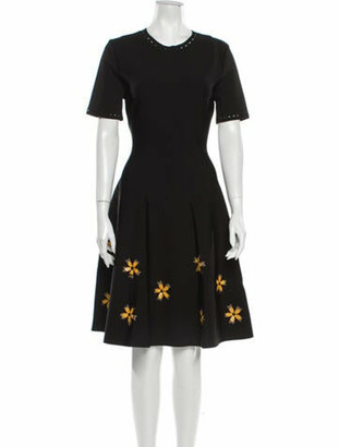 Oscar de la Renta 2020 Knee-Length Dress w/ Tags Black