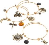 Apt. 9 Sun, Star, Bee, Dragonfly & Tree Charm Bangle Bracelet Set