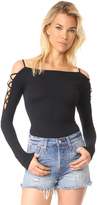 Free People Cross Shoulder Top