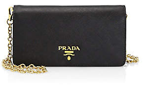 Prada Women's Chain Leather Wallet