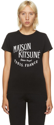 MAISON KITSUNÉ Black Palais Royal Classic T-Shirt