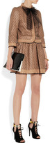 RED Valentino Leather and tulle mini skirt