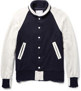 Sacai - Two-tone Wool And Cashmere-blend Jacket