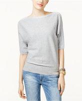 MICHAEL Michael Kors Cotton Metallic-Trim Dolman-Sleeve Sweater
