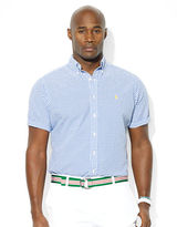 Polo Ralph Lauren Big and Tall Classic Fit Short Sleeved Checked Seersucker Shirt