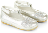 Monsoon Baby Applique Bow Metallic Walker Shoes