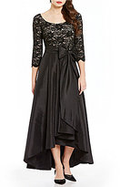 R & M Richards Lace Taffeta Hi-Low Ballgown