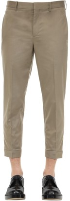 Neil Barrett Slim Cotton Blend Canvas Pants W/ Zips