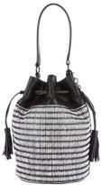 Loeffler Randall Bicolor Raffia Bucket Bag