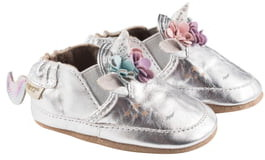 Robeez Uma Unicorn Metallic Crib Shoe