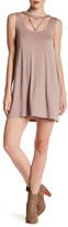 Very J Sleeveless Cutout Dress