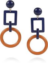 Geometric acetate clip earrings