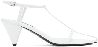 Jil Sander White Pointy Toe Heeled Sandals