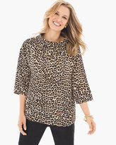 Chico's Animal-Print Mock-Neck Top