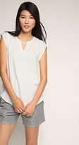 Esprit OUTLET flowing blouse with jacquard pattern