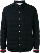 Moncler Gamme Bleu striped cuffs down jacket