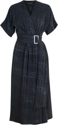 Flow Boho Wrap Dress In Black Milano