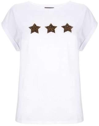 Mint Velvet Ivory Animal Star T-Shirt