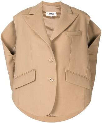 MM6 MAISON MARGIELA Oversized Deconstructed Waistcoat